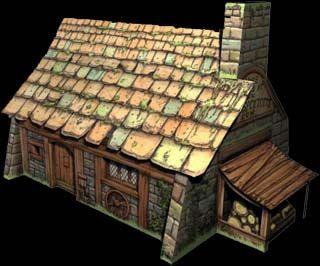 Fantasy Cutouts - Card model kits to download print and