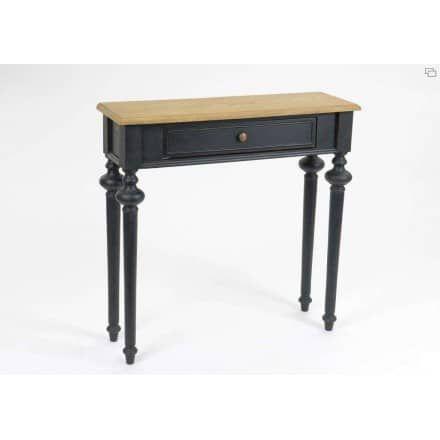 console bois noir amadeus - le grenier de juliette | meubles
