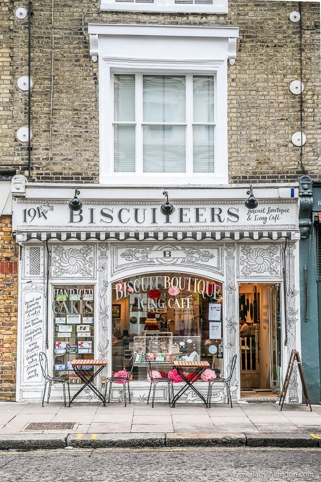 Biscuiteers is a cafe and shop selling biscuits and cookies in Londons Nottin