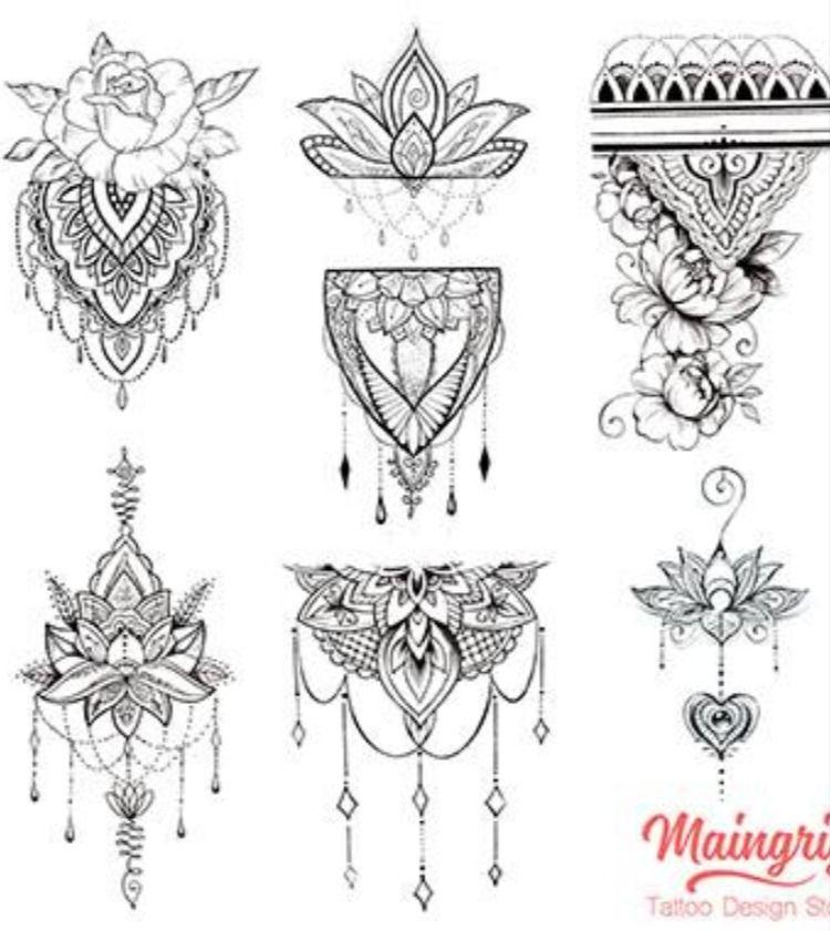 Oriental Mandala Instant Download Tattoo Design In 2020 Lace Tattoo Design Lace Garter Tattoos Lace Tattoo