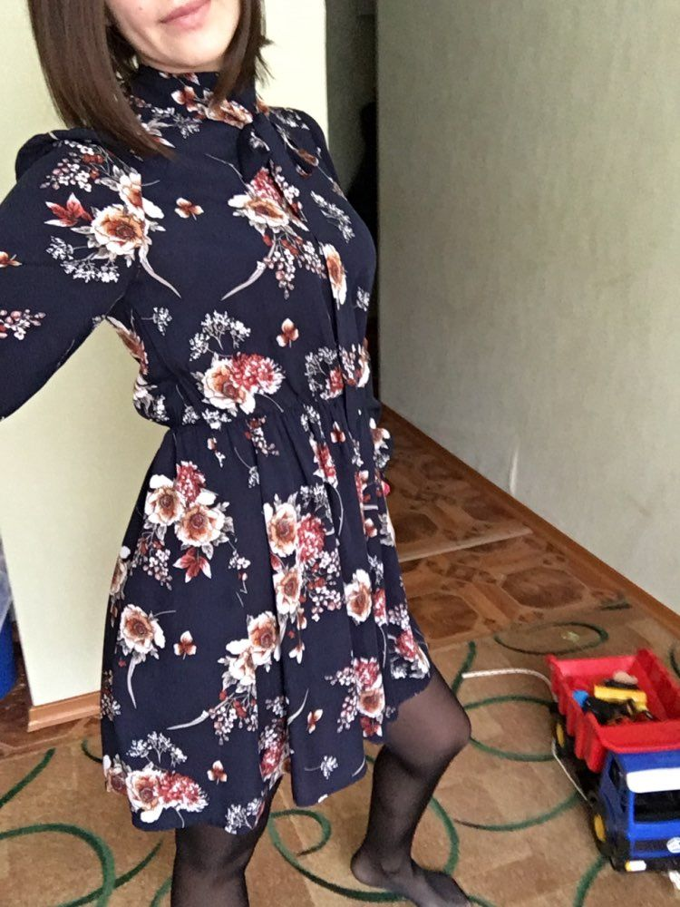 9c31f28bd413 SHEIN Autumn Floral Women Dresses Multicolor Elegant Long Sleeve High -  chicmaxonline