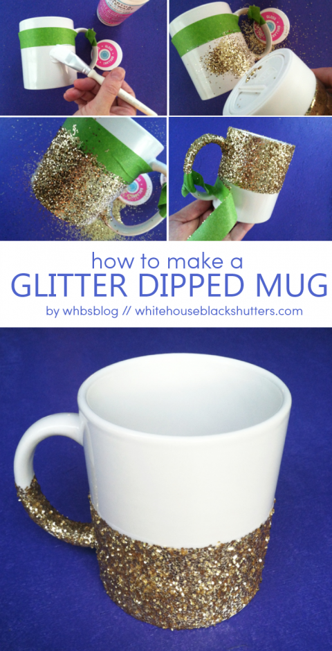 Love This Diy Glitter Dipped Coffee Mug It S Easy To Make