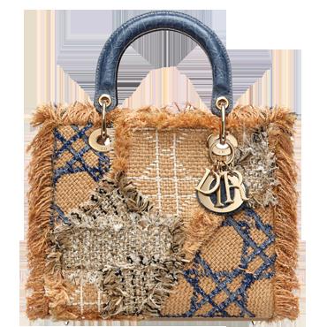 The Lady Dior tweed patchwork bag.