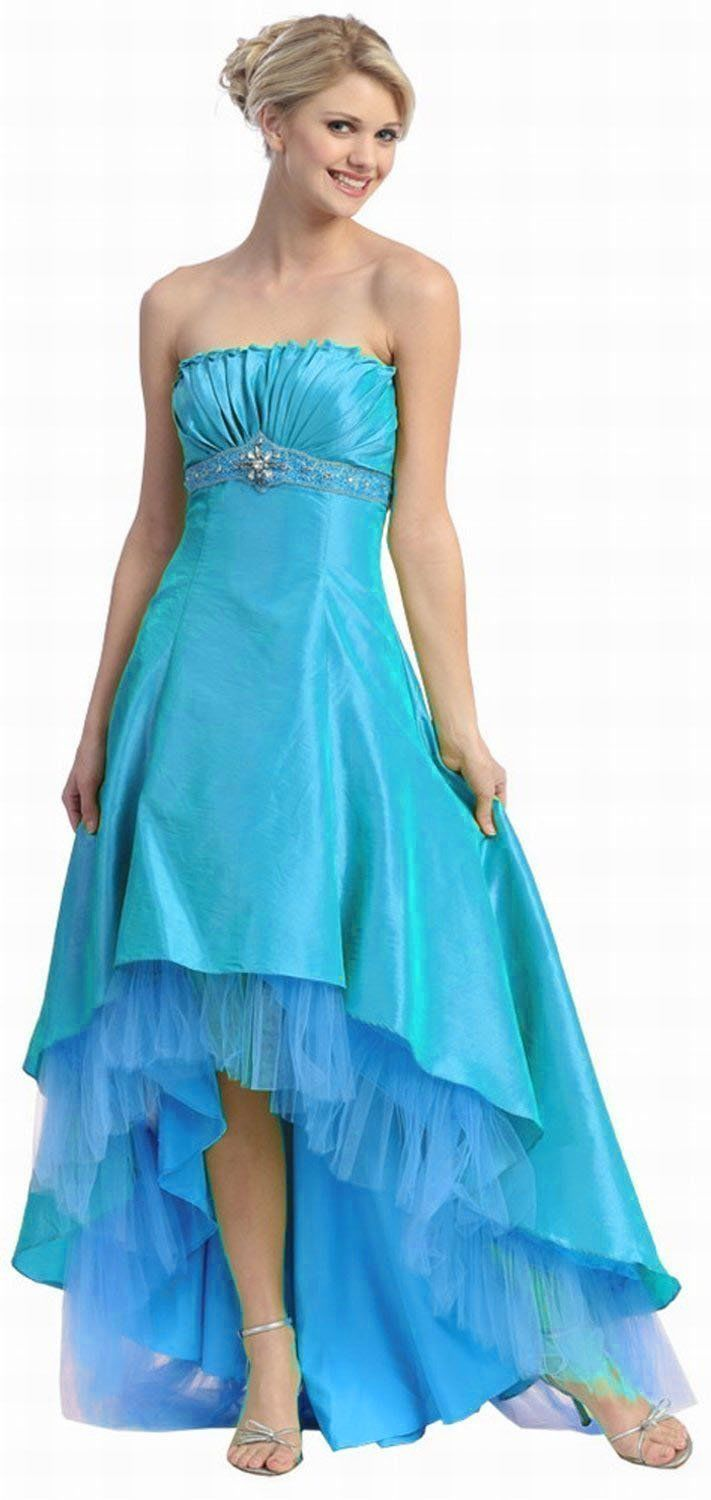Long short bridesmaids high low dress formal prom u gowns and