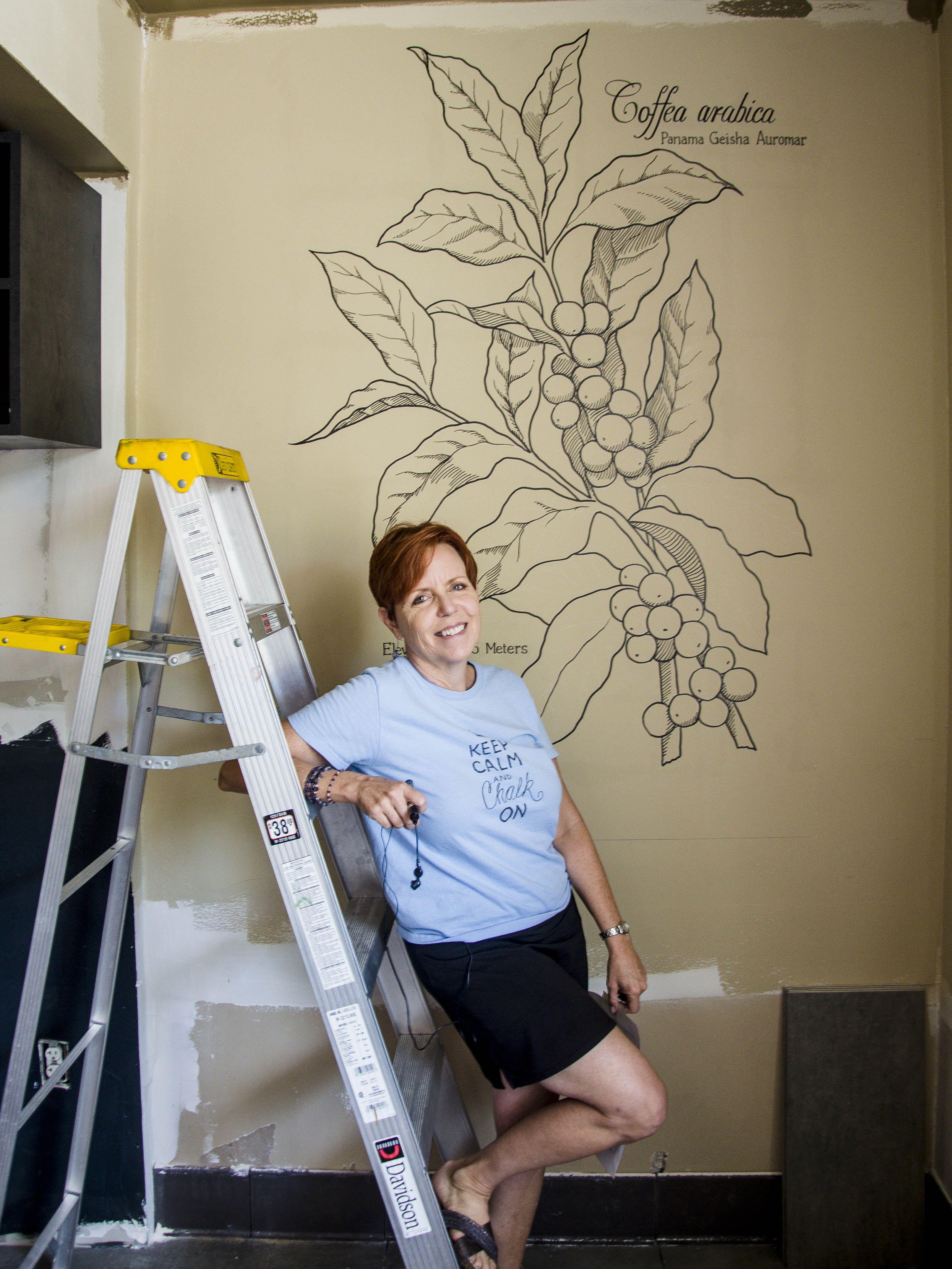 Car Paint Store >> Black paint on wall #starbucks #coffee #mural # ...