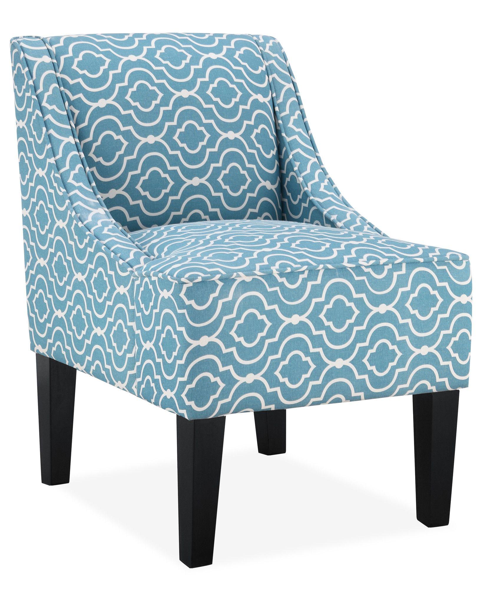 Best Trellis Slipper Chair In Blue Wayfair Accent Chairs 400 x 300