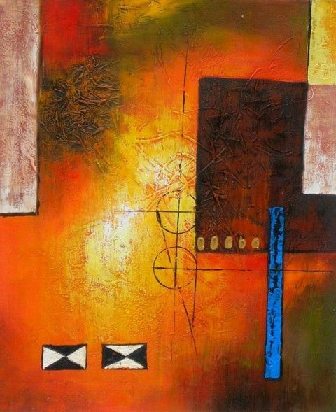 Abstract Oil Painting - Wall art finished in the USA. Dimensions (H ...