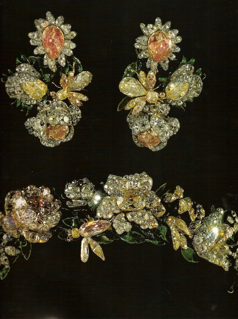 Tiara and earrings of The Romanovs of Russia. belong to Empress Elizabeth I daughter of Peter The Great.
