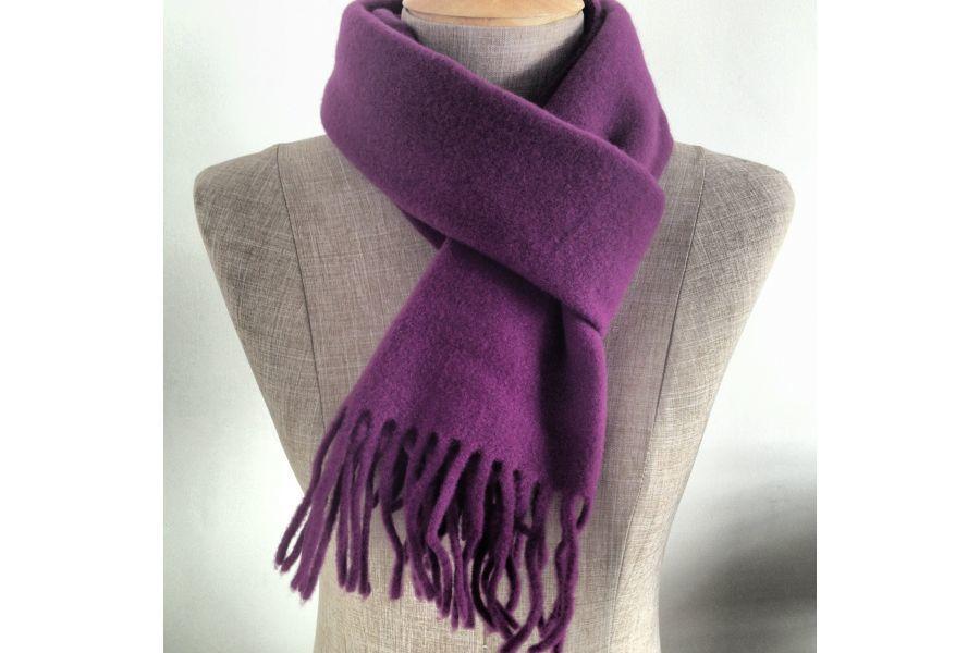 8711f00ae466 Echarpe Laine, Couleur Violet, Agneau, Homme Femme, Lilas, Foulard, Mauve