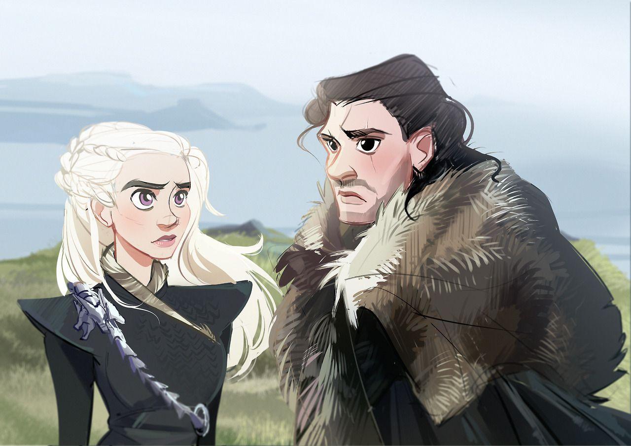 Jon Snow And Daenerys Stormborn Artwork By Kammi Lu Art On Tumblr Jonerys Gameofthrones Fanart Jons A Song Of Ice And Fire Jon Snow Art Game Of Thrones Art