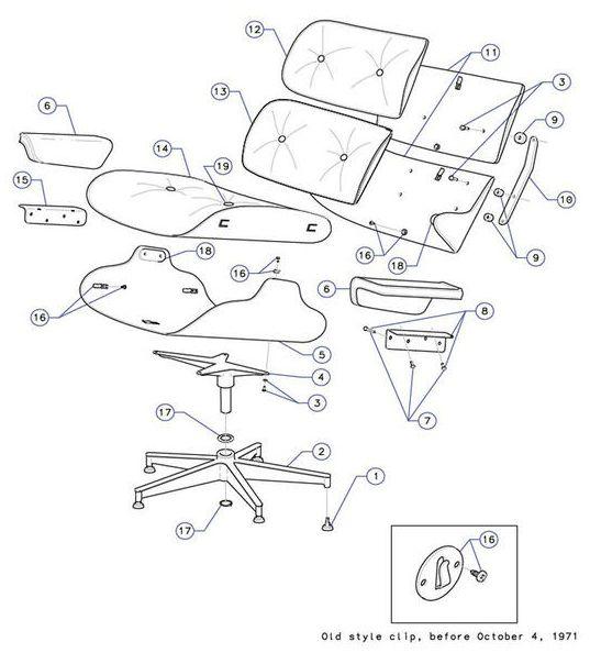 Eames Lounge Diagram