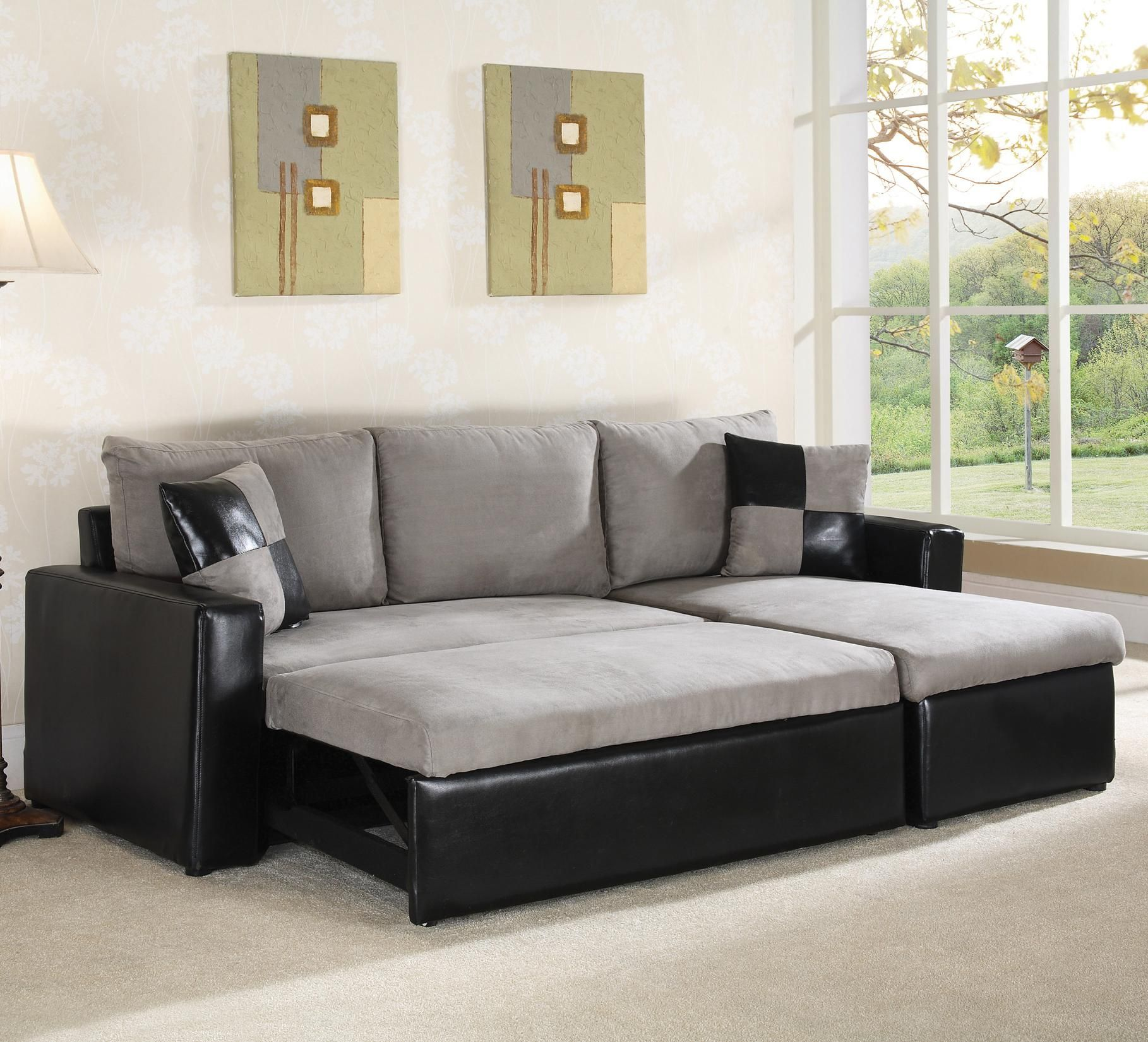 Leather Sofa  Sectional Sofa Sleeper by World Imports