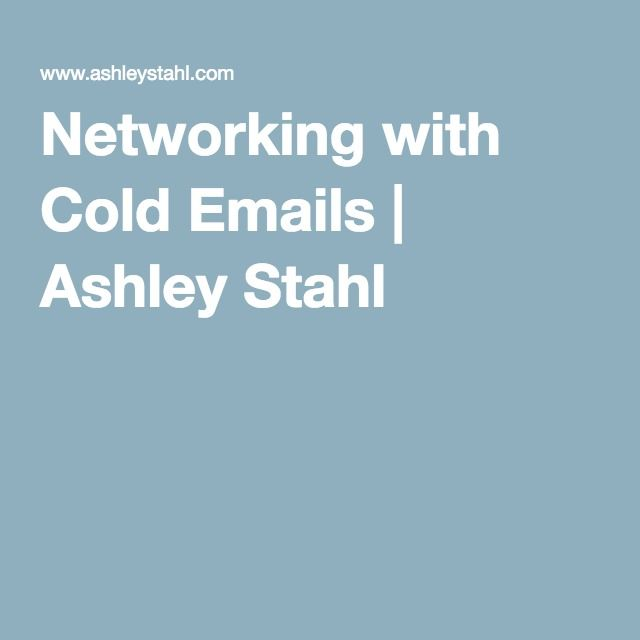 Networking with Cold Emails Ashley Stahl The Freelance Life - ceramic engineer sample resume