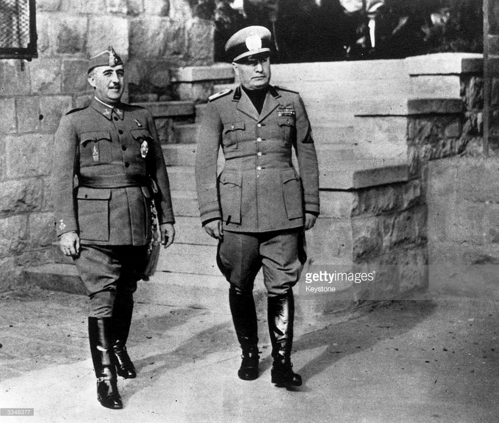 Spanish Authoritarian Leader Francisco Franco With Italian Dictator In 2020 Spanish War Army History Dictator