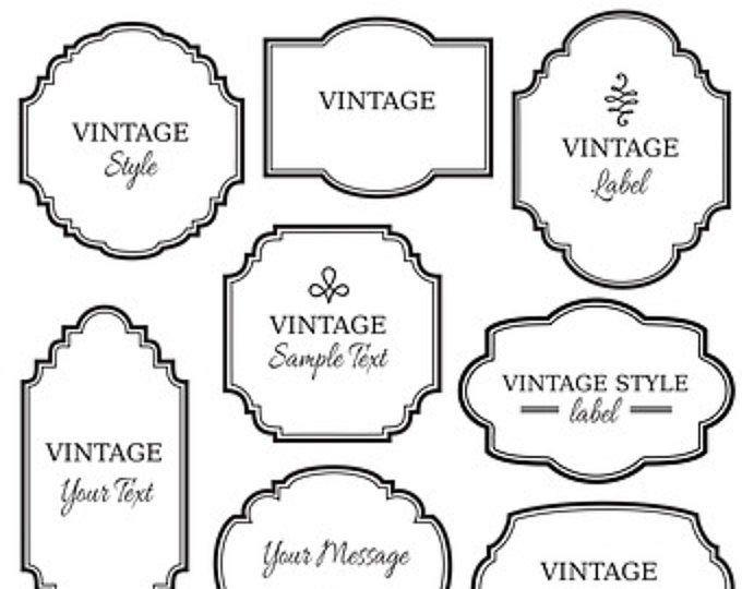 Vintage Labels Clip Art 10 Digital Frames Png Files Vector Soap Labels Apothecary Printable Label Tag Elegant Instant Download Clip Art Vintage Vintage Labels Digital Frame