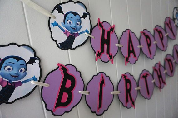 Vampirina Birthday Banner MADE TO ORDER