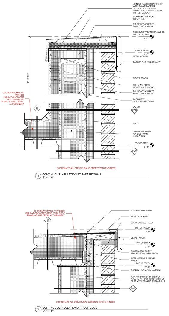 39 revised 39 standard detail of metal framed masonry veneer for Parapet roof design pictures