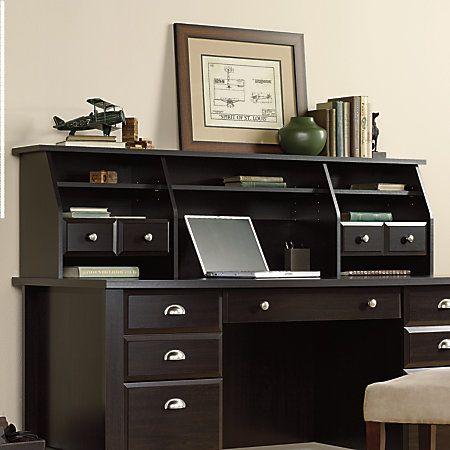 Sauder Shoal Creek Organizer Hutch 17 7 8 H X 65 1 8 W X 12 3 4 D Jamocha Wood Item 565938 In 2019 Office Desk Desk Hutch Home Office Furniture