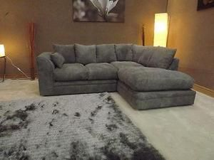 dylan jumbo cord light grey fabric corner group sofa right hand 299