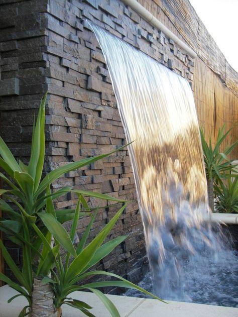 gartenbrunnen wasserfall gartenideen pflanzen Garten u Balkon - gartenideen wall
