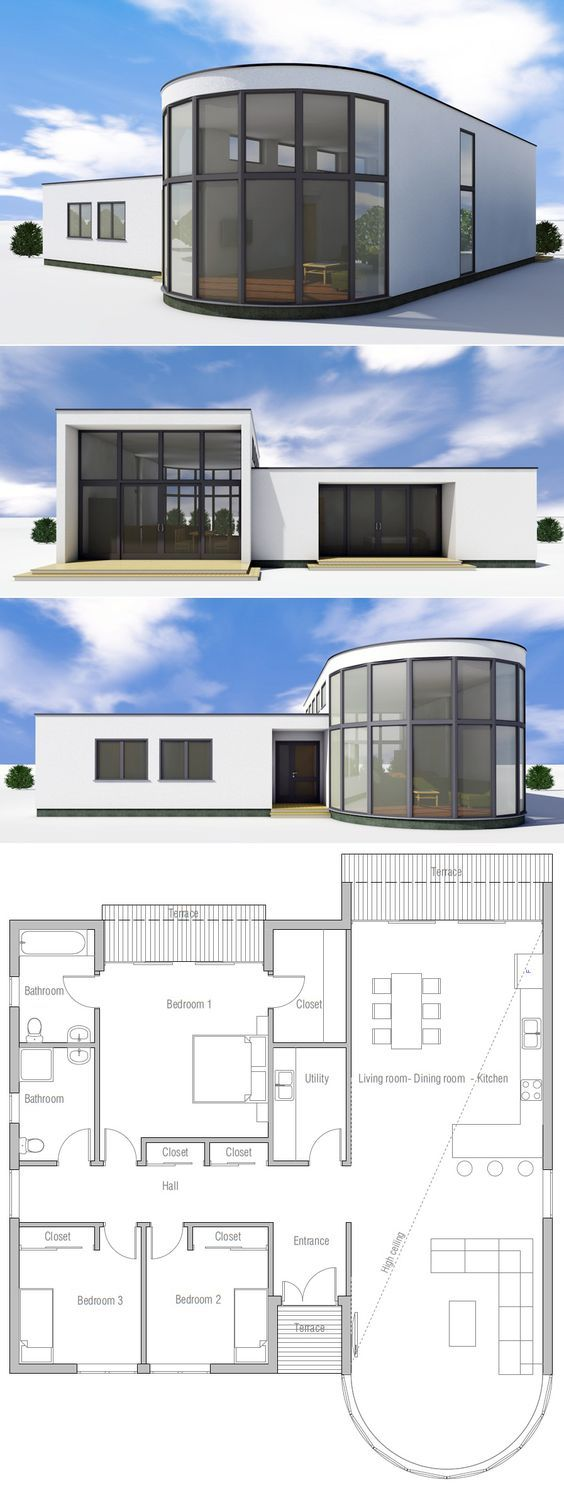 Modern house plan architecture pinterest planos for Planos en tres d
