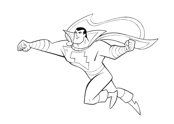 Coloring Pages For Kids Shazam - coloring pages