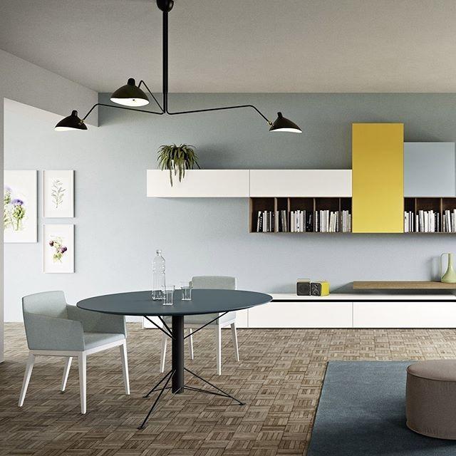 Eine moderne Einrichtung mit schicker Eleganz und frischen Farben - esszimmer im wohnzimmer