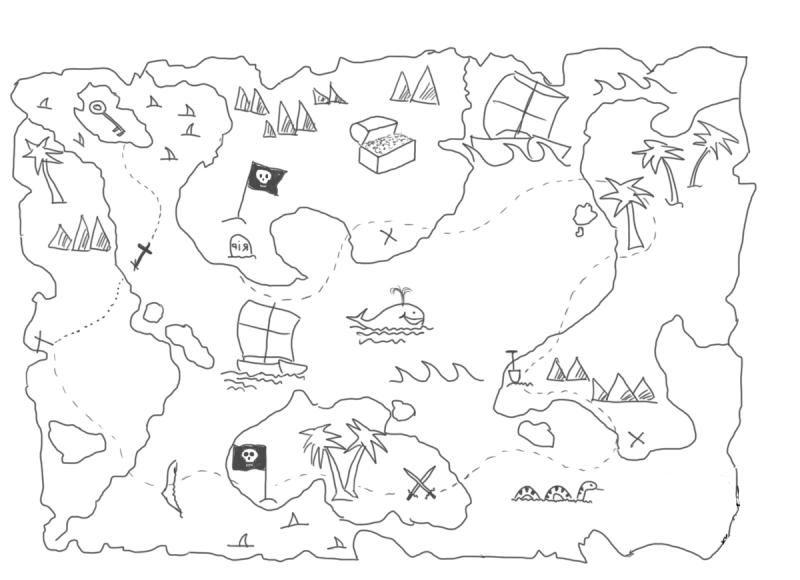Как нарисовать карту сокровищ для детей фото