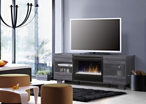 Dimplex Max Fireplace TV Stand in Carbonized Walnut. Scandinavian ...
