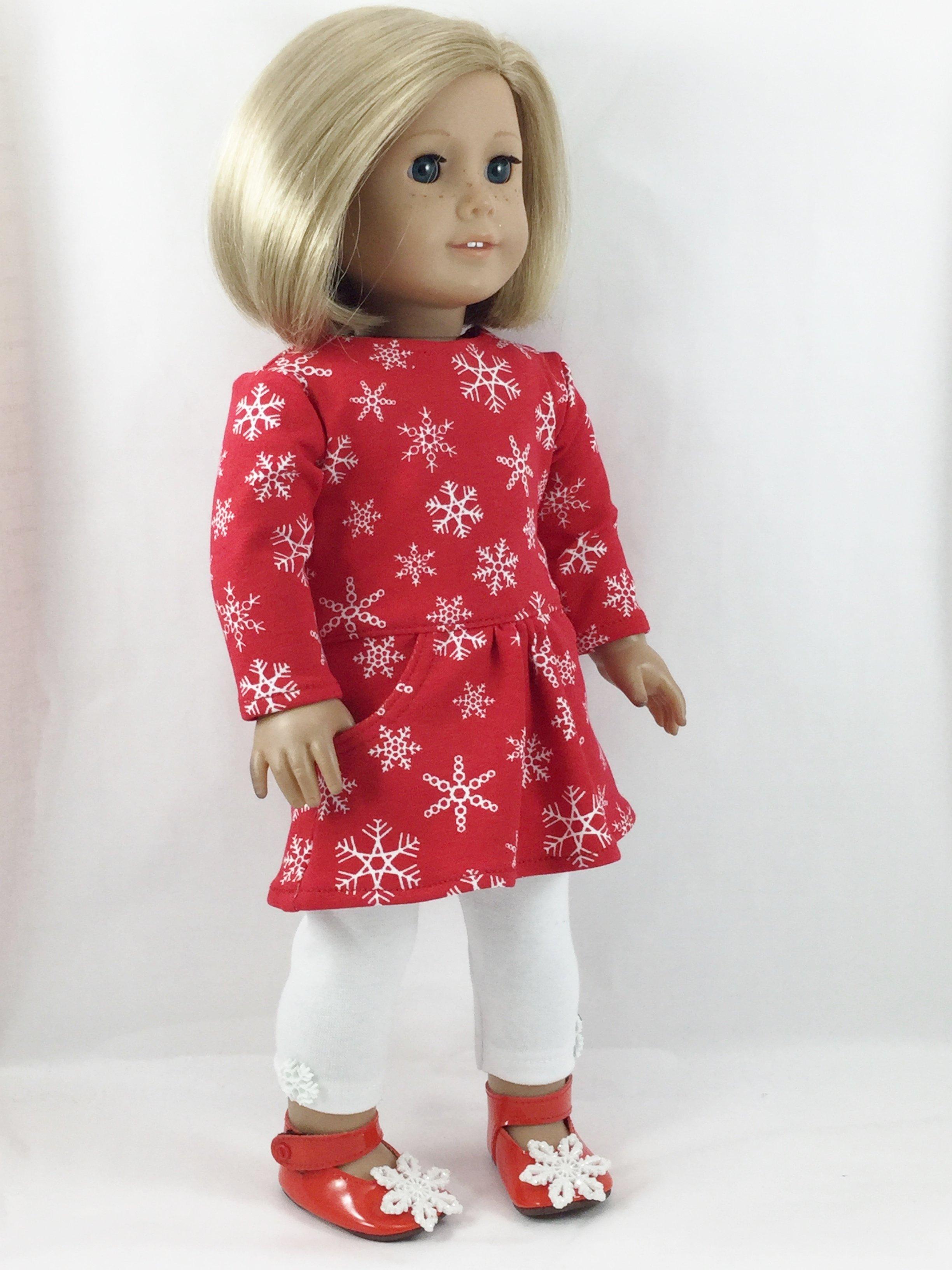 3pcs White Long Sleeve T-shirt Skirt Leggings for 18/'/' AG American Doll Doll