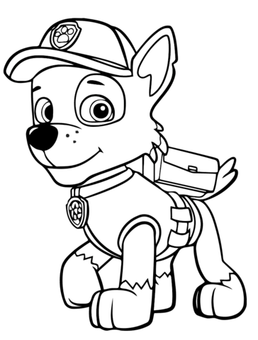 Coloring page: Paw Patrol Rocky. Categories: PAW Patrol. Free ...