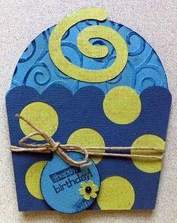 Cupcake card using Sweet Treats Cricut Cartridge