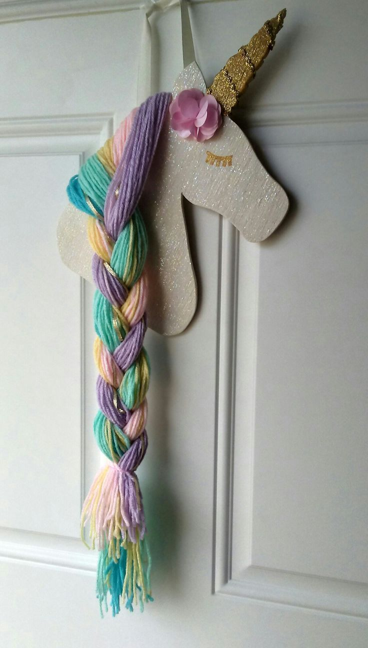 Hair bow holder Unicorn hair bow holder  My babies will need like 4 unicorns lol is part of Unicorn crafts -