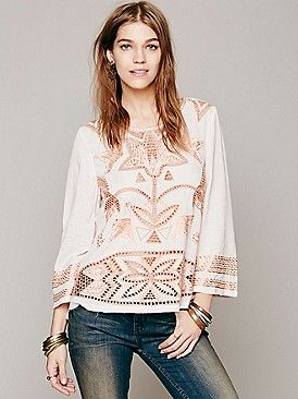 Free People FP New Romantics Beyond The Sketch Top at Free People Clothing Boutique