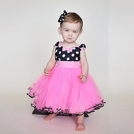MINNIE MOUSE dress TUTU Minnie Mouse Party Dress in Hot pink with ...