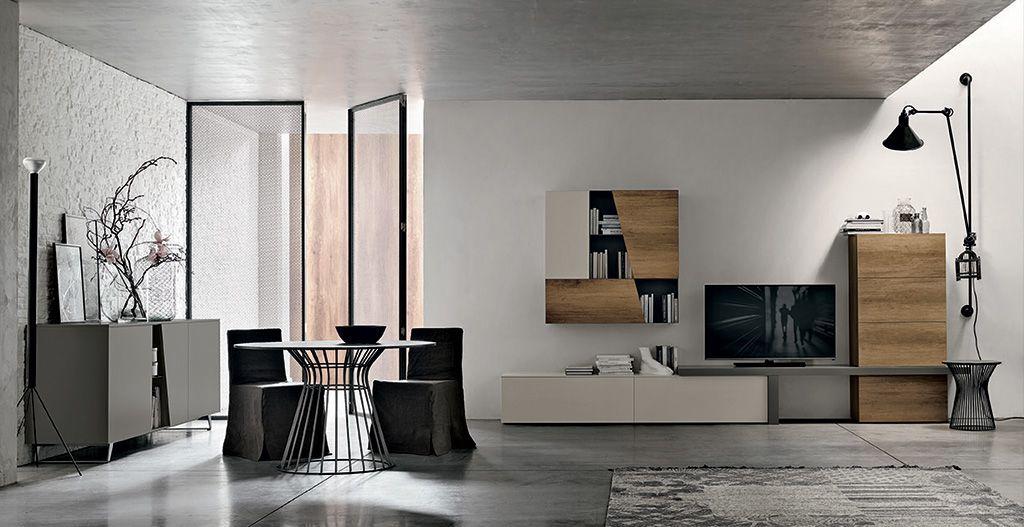 Composizioni soggiorno design ~ Composizione soggiorno a058 finiture disponibili: essenze