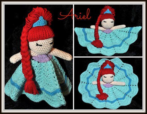 Disneytheme Princess Crocheted Lovey by HandcraftHaberdasher, $40.00