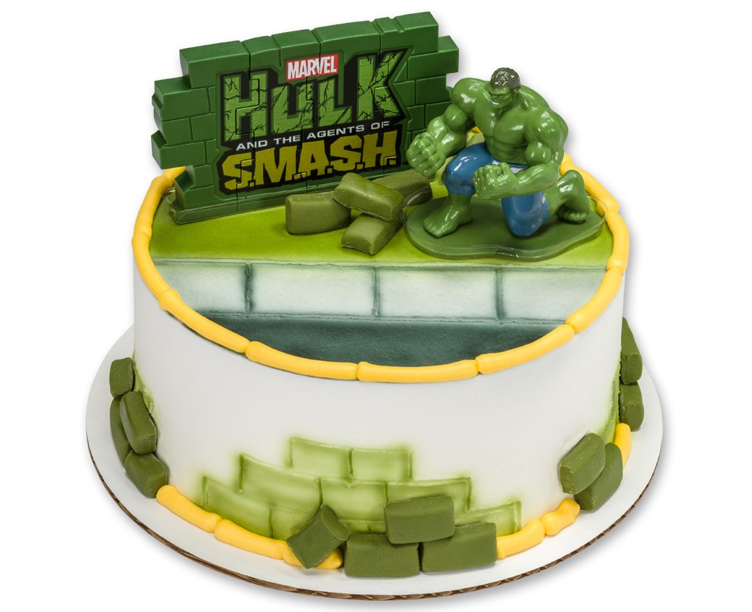 Hulk Agents of Smash DecoSet Cake Topper Bean turns three