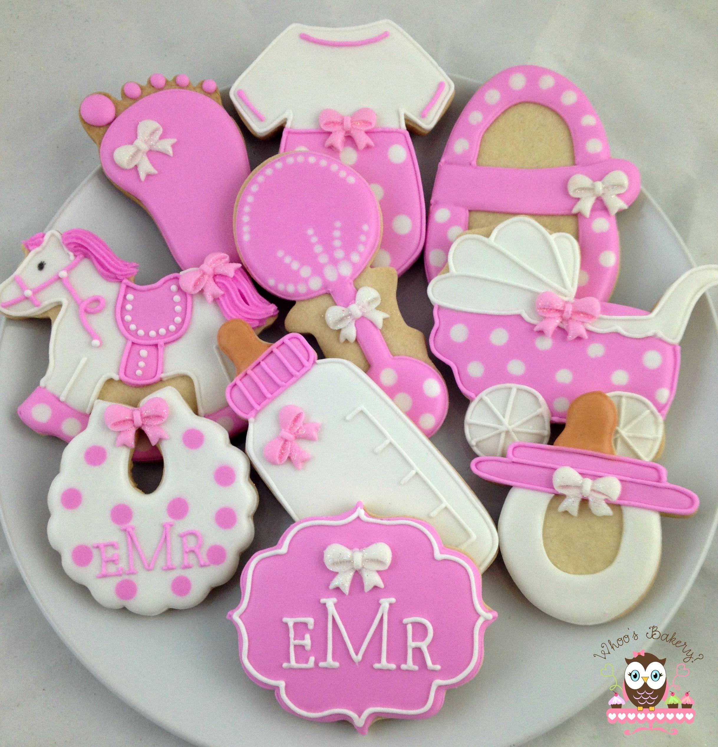 Baby Shower Cookies, Baby Feet Cookies, Baby Bottle Cookies, Rocking