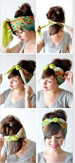 Cute Way To Wrap Your Hair Up Hair Styles Hair Scarf Styles Scarf Hairstyles