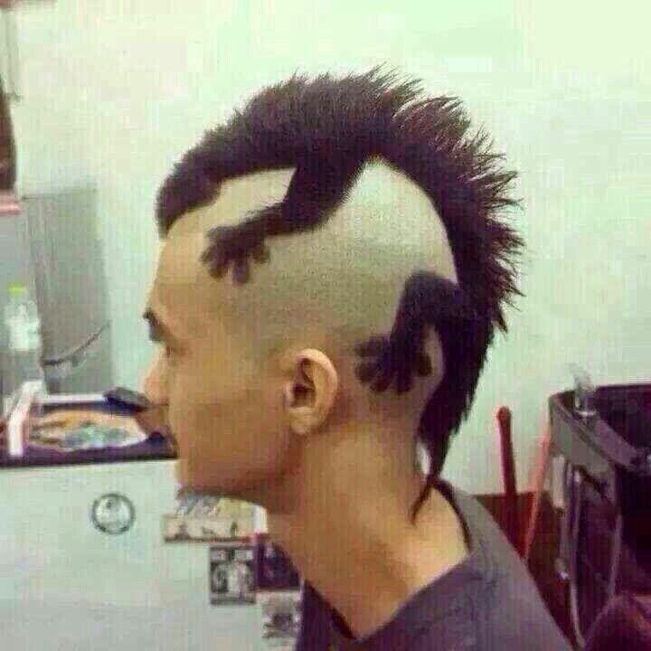 Schicke Frisur Lustig Humor Haarschnitt Manner Lustige Bilder