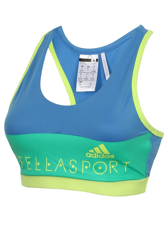 Adidas Womens Stella McCartney STELLASPORT Padded Sport Bra  Amazon.co.uk   Clothing 2a23d641c8