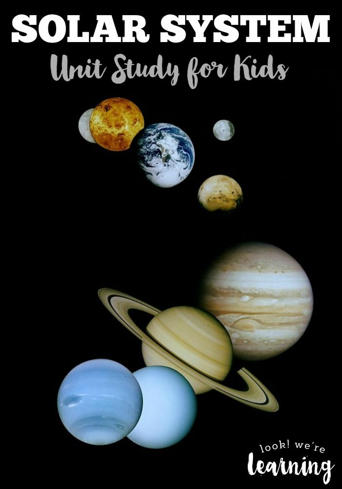 Learning the Solar System for Kids | Printable themes/activities ...