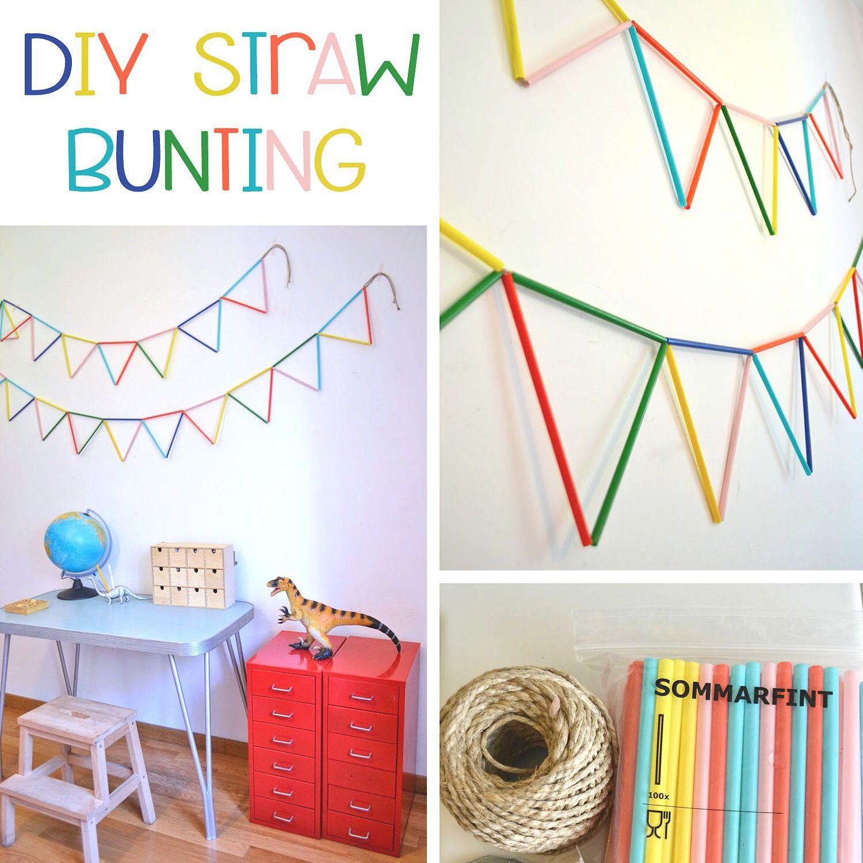 Diy Straw bunting | party ideas | Pinterest | Buntings, Craft ideas ...