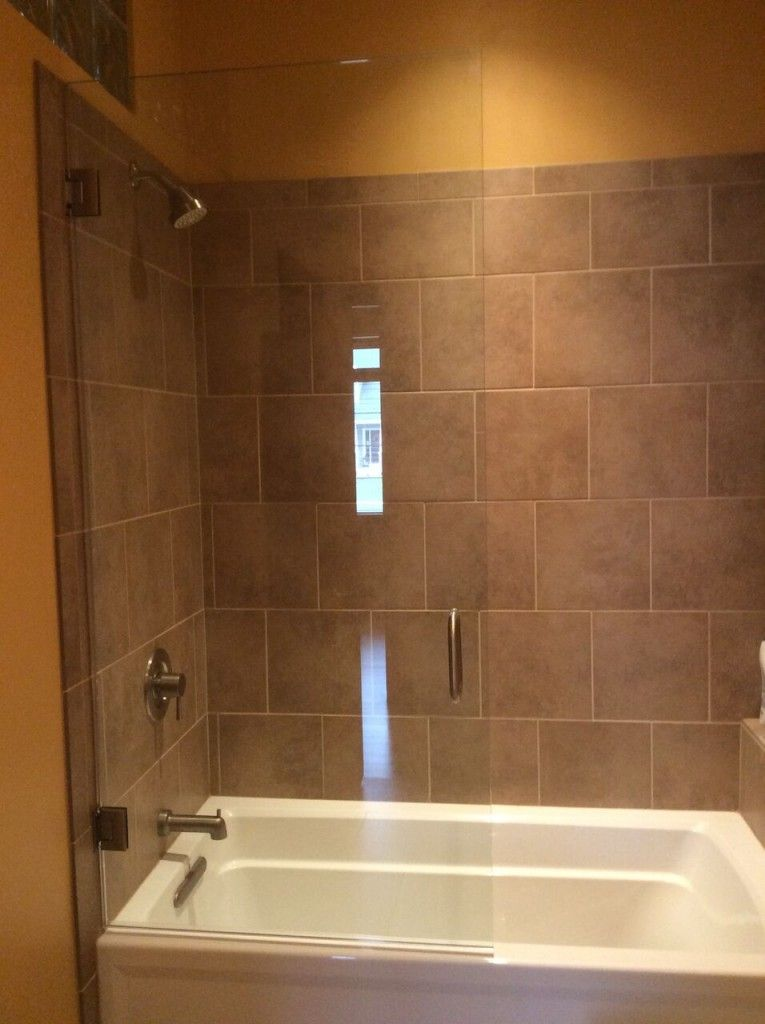 Shower Door Brushed Nickel Hardware Tub Shield In And Out Swing