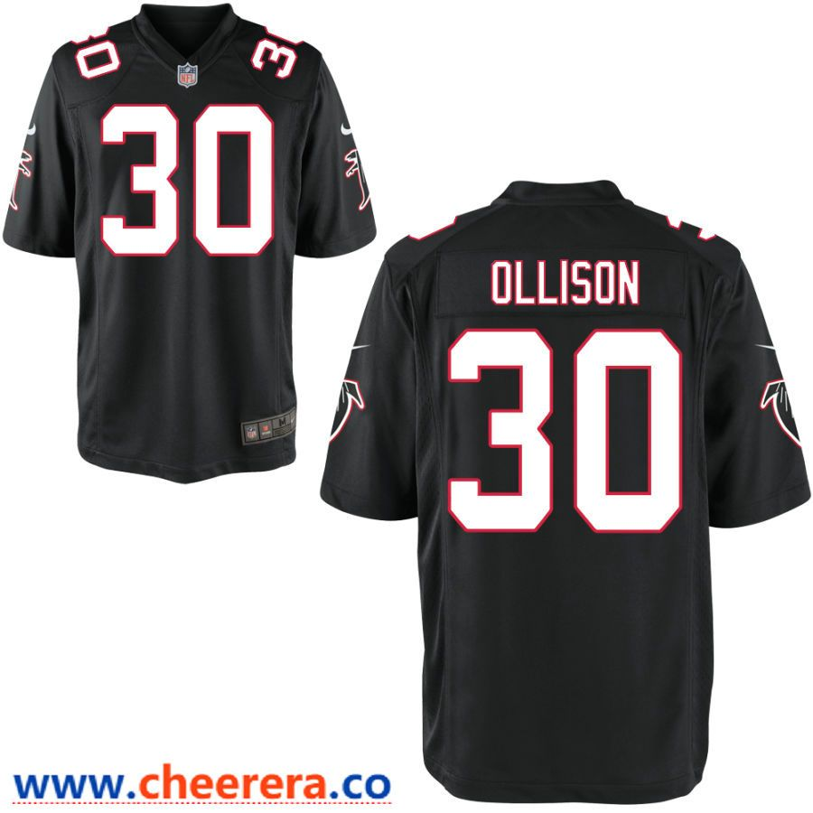 wholesale dealer a476e 3564b Men's Atlanta Falcons #30 Qadree Ollison Black Stitched NFL ...