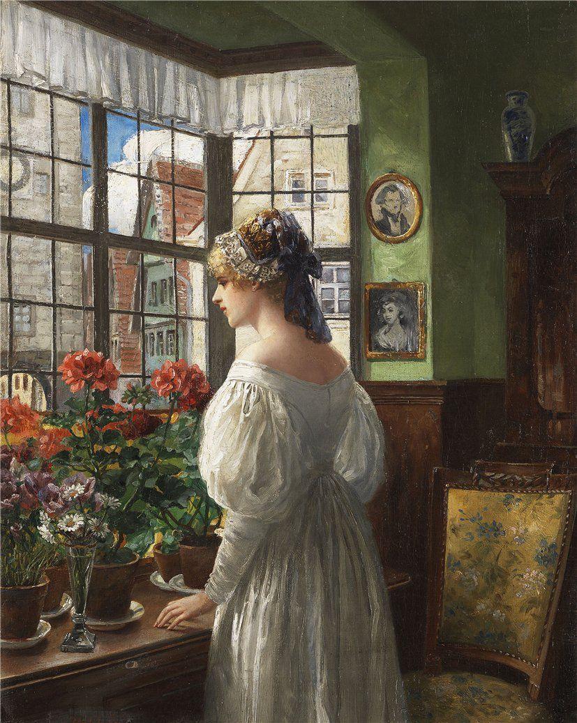 Carl Rohling (German, 1849–1922) - Dame am Fenster, 1880–1899
