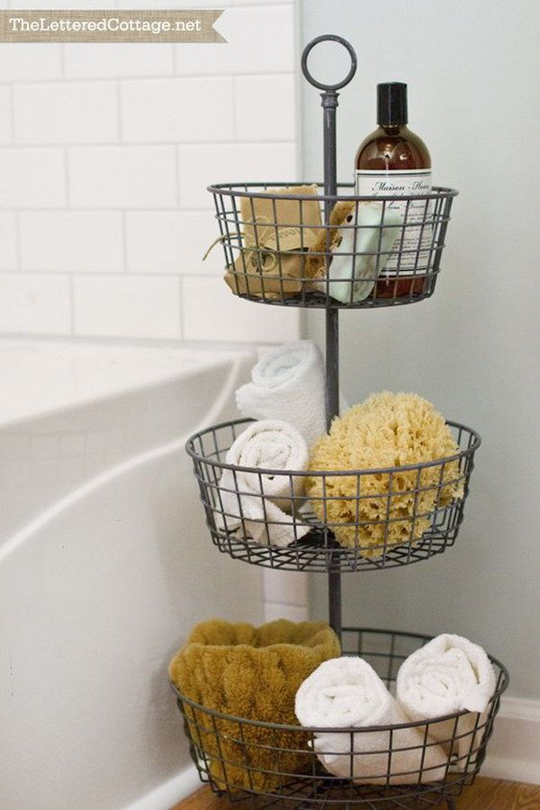 20+ Neat And Functional Bathtub Surround Storage Ideas | Pinterest ...