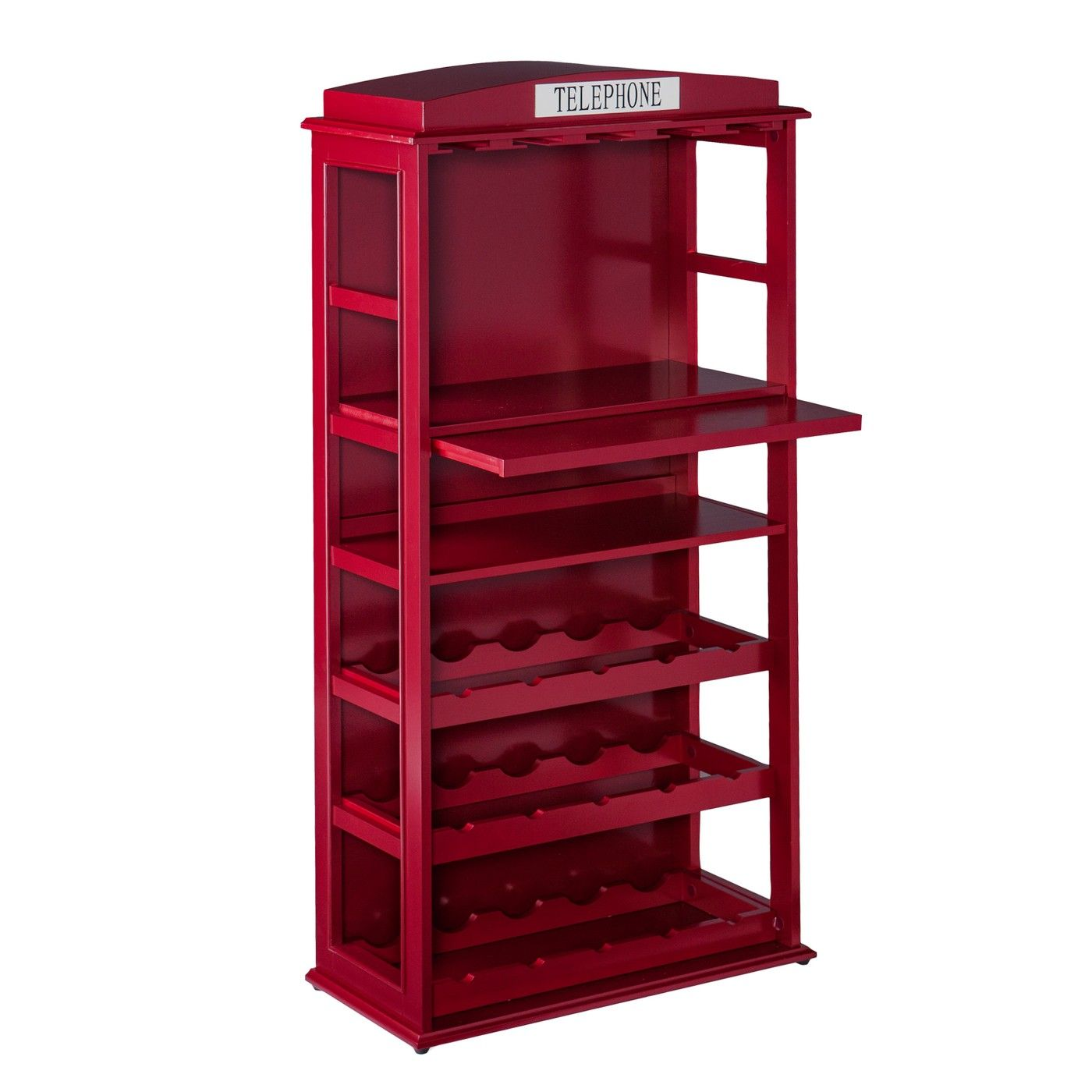 Phone Booth Bar Cabinet Wine Storage Deep Red Aiden Lane Image 2 Of 8 Wine Cabinets Bar Cabinet Wine Storage