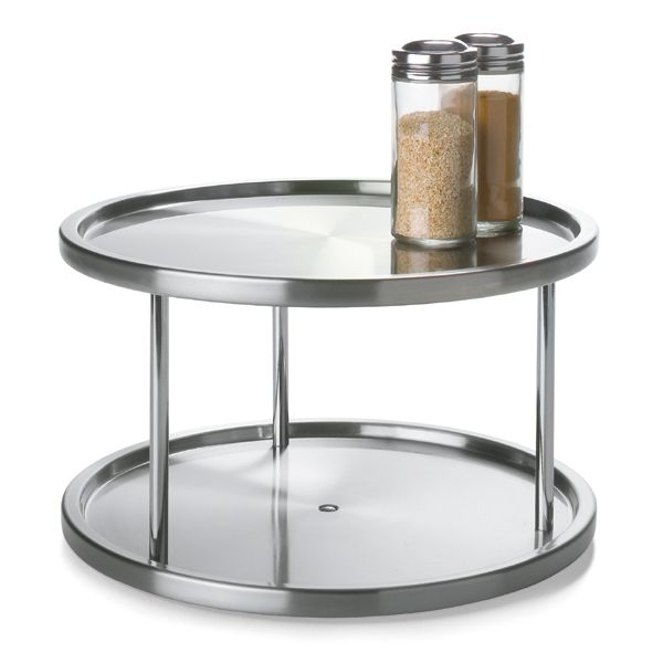 Double Stainless Steel Turntable Perhaps Two Would Fit In The Lazy Susan.  If This Is
